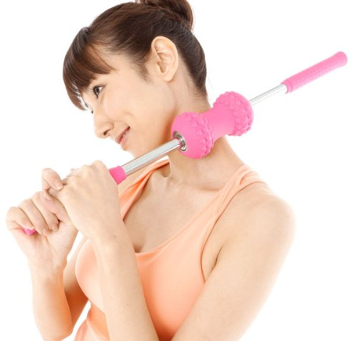 【コロコロストレッチ(ピンク)】 収納バッグ付き! ころころストレッチ コロコロ ストレッチ ころころして柔軟な体作りを!   B00GXXGGVU