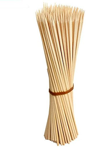 Jamboree Disposable kebab stick, roast stick, Bamboo Skewers Chocolate Fountain Wooden Fruits Barbecue Kebab Stick Party Buffet Food Wooden Fork Set