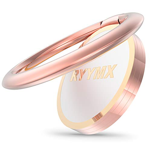 Cell Phone Ring Holder - RYYMX Phone Ring Stand : Finger Ring Stand Metal Magnetic Phone Ring Grip Kickstand Compatible with iPhone Xs Max XR X 8 7 6 6s Plus 5s, All Android Smartphone - Rose Gold ()