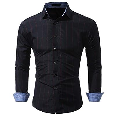 SportsX Mens Classic Contrast Plaid Slim Fit Buttoned Dress Shirts
