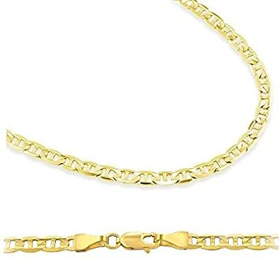 14k yellow gold necklace mariner chain mens womens solid 14mm 16 14k yellow gold necklace mariner chain mens womens solid 14mm 16 inch amazon aloadofball Image collections