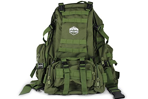 Turtle Creek 50L Hiking Backpack - Durable Tactical Backpack with 1000D Nylon - Water Resistant Camping Backpack - Sturdy Tactical Rucksack for Hunting and Trekking - Military Backpack by Turtle Creek Gear LLC
