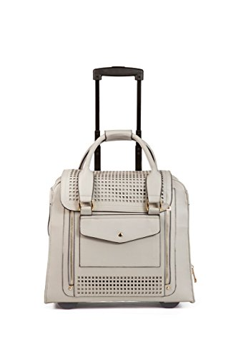 Hang Accessories Zadie Perforated Grey Rolling Trolley Bag by Hang Accessories