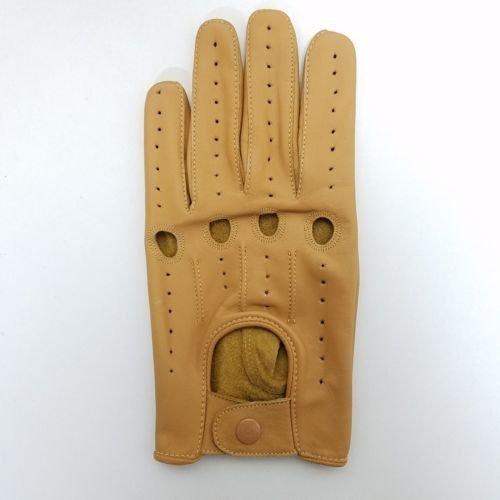 メンズ駆動手袋のソフトストレッチ性のある本革製 X-Large タン B00Y98DI3U