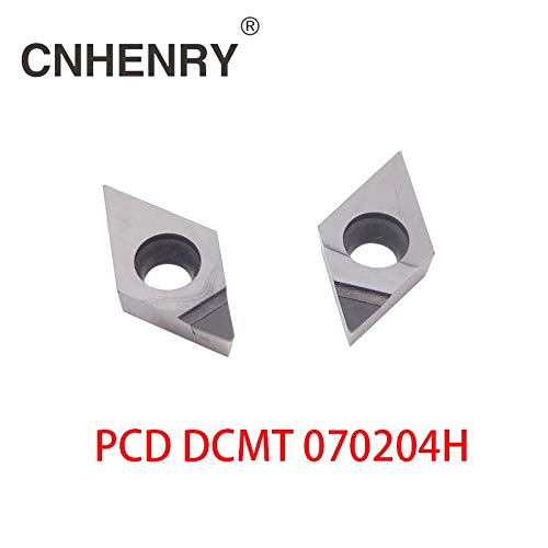 Pcd Insert - FINCOS 2 PCS PCD Turning Inserts DCMT 070204 CNC PCD Diamond Inserts For Lathe Tools For SDJCR/SDACR/SDNCN