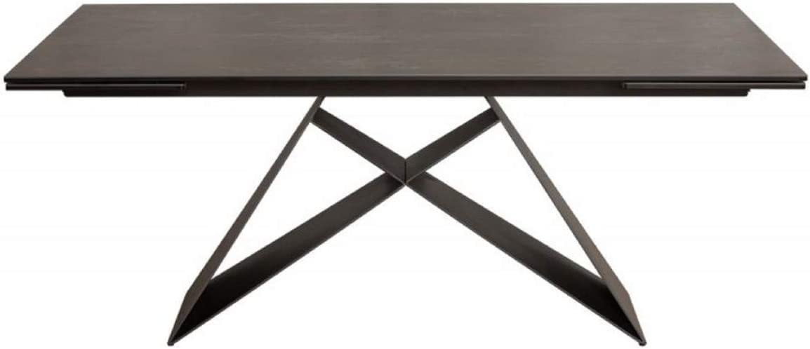Casa Padrino Dining Table Black 180 260 X 100 X H 76 Cm Modern Kitchen Table With Extendable Ceramic Table Top And Metal Frame Amazon Co Uk Kitchen Home