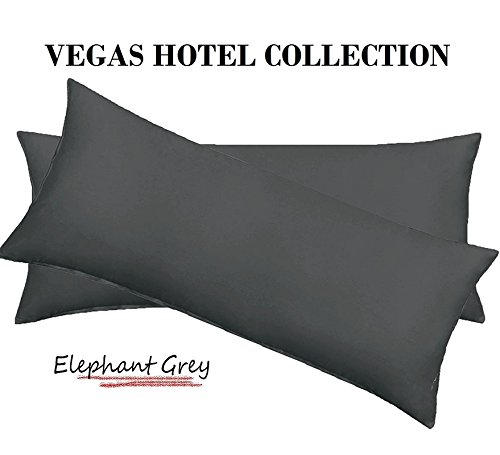 Vegas Sofa Collection (VEGAS HOTEL COLLECTION Heavy Egyptian Cotton 2-PC Pillow Cases Nice Solid Looking ( Body Size ) 1000-Thread-Count ( Grey Color ))