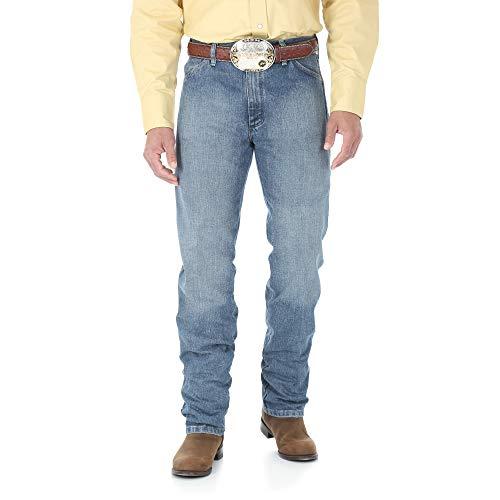 (Wrangler Men's 13MWZ Cowboy Cut Original Fit Jean, Rough Stone, 40W x 32L)