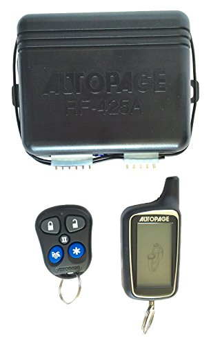 AutoPage RF425A 4-Channel Vehicle Alarm Security System with 2-way AM/AM LCD Transmitter