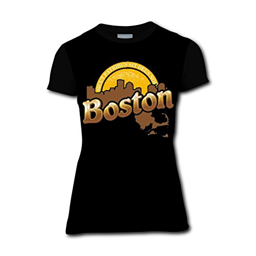 JISUAI Womens 3D T Shirts Print Boston Cheers Summer Casual Short Sleeve Cheers Boston T-shirt
