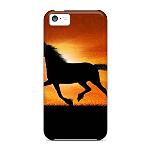Hot Snap-on Running Horse Desktop Hard Cover Case/ Protective Case For Iphone 5c