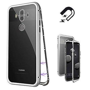 CaseLover-es Funda Huawei Mate 10 Pro, Carcasa Huawei Mate 10 Pro Metal Aluminio Adsorción Magnética Vidrio Templado Rígida Carcasa Glass Back Case ...