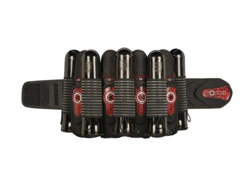 2014 GI Sportz 4+7 PRO Race Pack Paintball Harness - Black / Red by GI Sportz