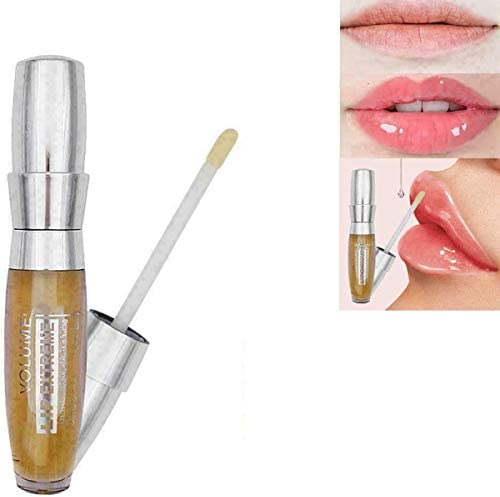 JDKD Shiny Lip 3-D Sexy Super-Volume Plumper Plumping Lip Gloss Doll Pink,Makeup Waterproof Matte Liquid Lipstick Long-Lasting Plump,Instant Lip Plumping Serum (2PCS)