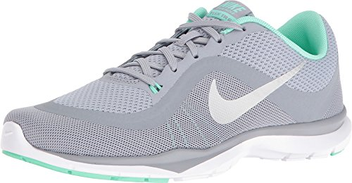 Nike Women's Flex Trainer 6 Training Shoes Wolf Grey/Platinum/Green Glow Size 10 M US