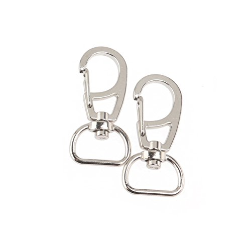 WINOMO 10pcs Metal Swivel Eye Lobster Snap Clasp Hook for Keychain Keyring (Silver) by WINOMO