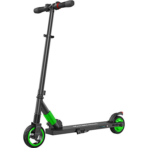 MEGAWHEELS Electric Scooter for Kids and Adults up to 14mph Ultra-Lightweight Foldable Electric Kick Scooter ()