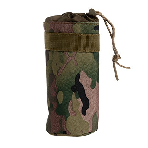 Kettle Bag - Zadaro Outdoor Military Tactical Water Bottle Bag Kettle Pouch Holder Water Carry Bag for Hunting Hinking Travel (DP)