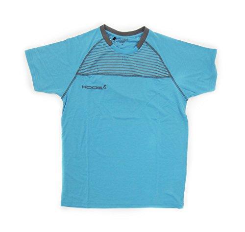 Rugby-T-Shirt Dri-Lite, Cyan/Grau Größe 3XL