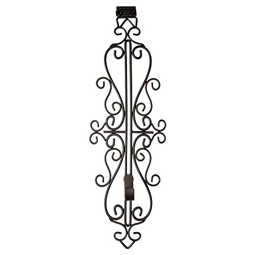 Village Lighting Colonial Brown Wrought Iron Style Adjustable Height Wreath Hanger