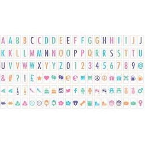 Ginger Snap 120 Extra Coloured Letters Numbers Symbols For Light