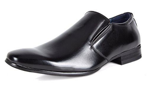 Bruno Marc Men's Black Slip On Dress Loafers Shoes - 9.5 M US Gordon-07