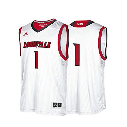 (NCAA Louisville Cardinals Mens Replica Basketball Jerseyreplica Basketball Jersey, White, Medium)