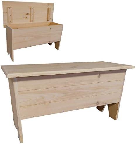 木製ストレージベンチ3' Long 18.5x36 24az-sBLUE