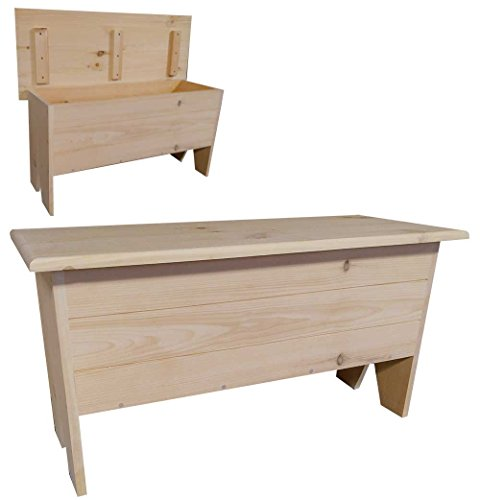 Unfinished Wood Storage Bench - Sawdust City Wooden Storage Bench 3' Long (Unfinished Pine)