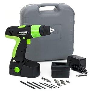 Kawasaki 840051 Black 19.2-Volt 20-Piece Cordless Drill Kit