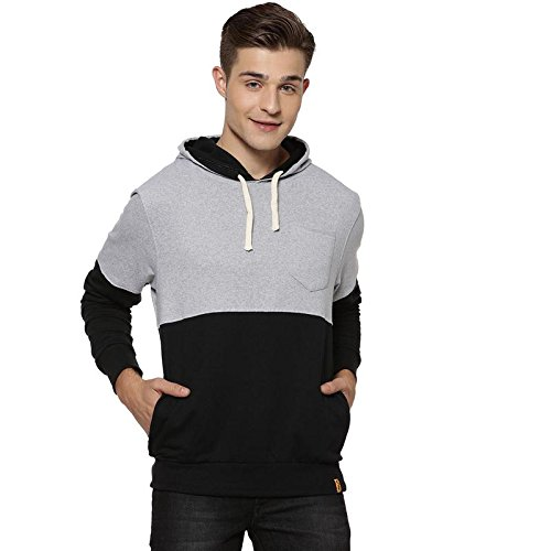ba7f255f Campus Sutra Full Sleeve Solid Men Sweatshirt(AZW18_HHHPK_M_PLN_BLGR_GR_AZ_S)  Black