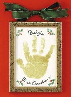Amazoncom  Babys First Christmas Handprint Ornament  Baby Hand