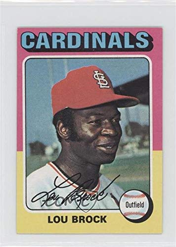 Card Brock Baseball Lou (Lou Brock (Baseball Card) 1975 Topps - [Base] #540)