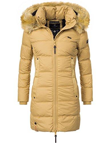 Navahoo Damen Mantel Steppmantel Wintermantel Quitscheente (vegan  Hergestellt) 7 Farben + Camouflage XS