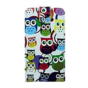 LHY Owls Design PU Leather Full Body Case for Samsung Galaxy Note 4