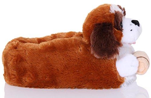 St 3D para diseño mujer animal Pantuflas Bernard en de qSOCx6f