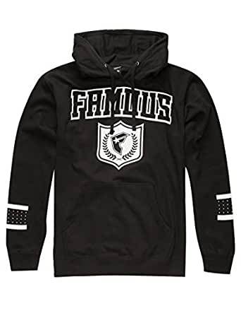 Famous Stars and Straps Mens Famous Shotta Fleece Hoody Pullover Sweatshirt 3X-Large Black