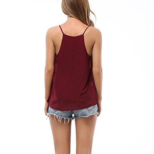 PRIAMS 7 - Camiseta sin mangas - para mujer rojo vino