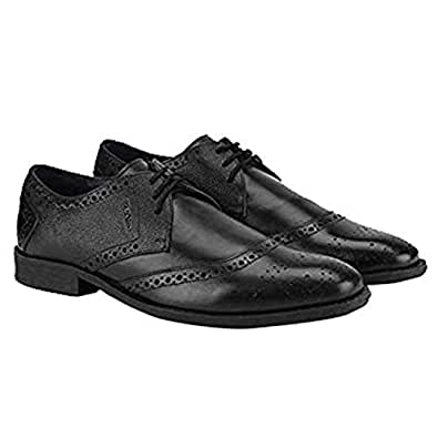 Ruosh Casual Men's Lace Up 44 EU Shoes, Black