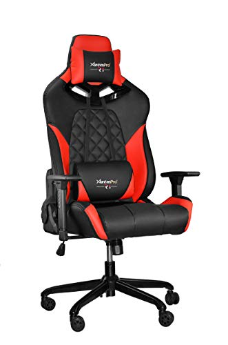 XtremPro 22044 R1 Gaming Chair with RGB Lighting Racing Style Seat - Black Red Uncategorized