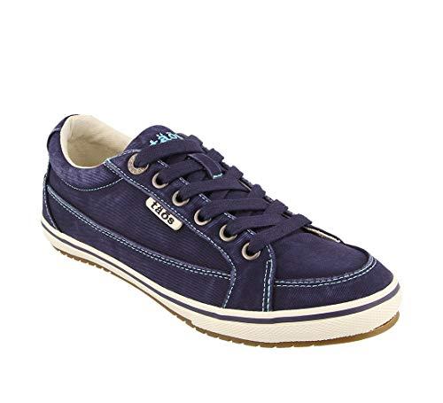 - Taos Footwear Women's Moc Star Navy Distressed Sneaker 7 M US