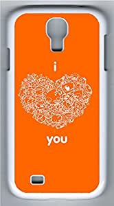 Samsung Galaxy S4 Case Customized Unique Orangered I Love You Cover For Samsung Galaxy S4 I9500