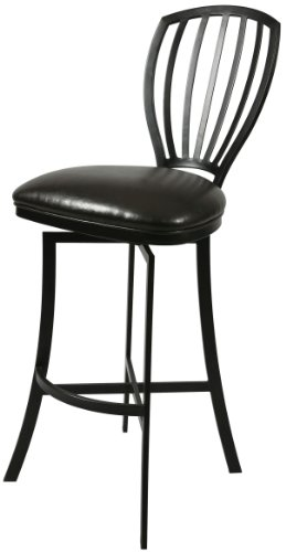 Pastel Furniture TZ-219-30-PH-943 Tropez Swivel Barstool, 30-Inch, Phantom and Melvin Chocolate