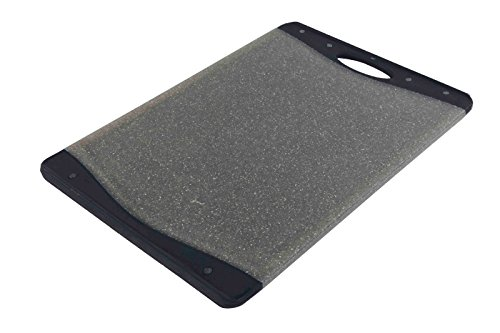 , Durable Plastic Dual Side Cutting Board, Granite Grey The Perfect Place To Cut Your Favorite Fruits and Vegetables