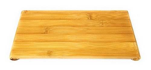 Royal Brands Sushi Board - Bamboo Sushi Board - Eco-Friendly 100% Natural Bamboo Cutting Tray - Japanese Style Tableware - Perfect for Chopping, Sorting and Organizing (Large 12.8 x 0.8 x 6.8 in) by Royal Brands