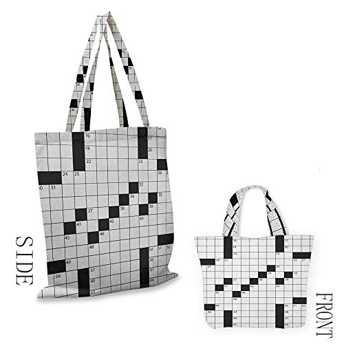Tote bag Word Search PuzzleBlank Newspaper Style Crossword Puzzle with Numbers in Word Grid Black and White18