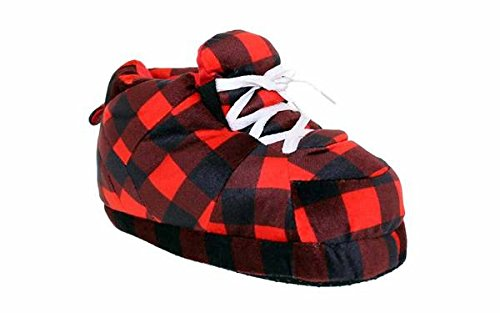 1132-4 - Hipster Plaid - X-Large - Happy Feet Sneaker Slippers