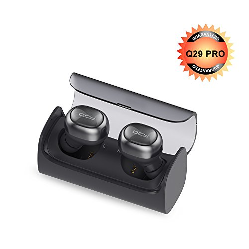 Mini Bluetooth Earbuds,QCY Q29Pro Wireless Headphones 4.2 TWS Earpiece Fast Pairing HD Stereo In-Ear Earphones with Built-in Mic for iphone Samsung Android - Hours Pro Today Bass