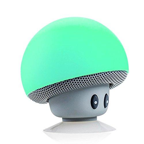 TinyFin-Mini-Bluetooth-Wireless-Portable-Mushroom-Speaker-With-Sucker-Function-Green-For-Smartphone