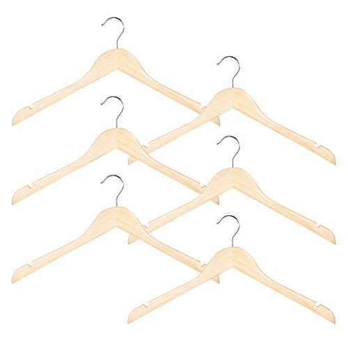 Richards Homewares Imperial/Juvenile Set/6 Wood Children's Shirt/Coat Hangers (Set of 6) ()